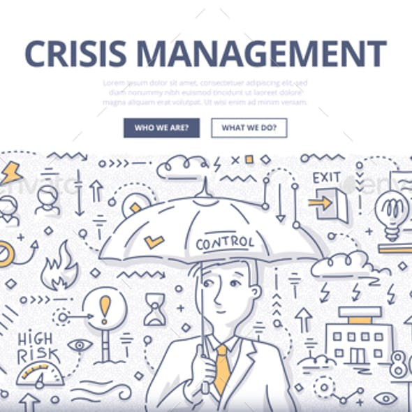 Crisis Management Doodle Concept