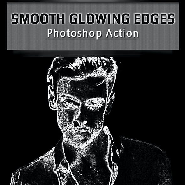 Smooth Glowing Edges Photoshop Action