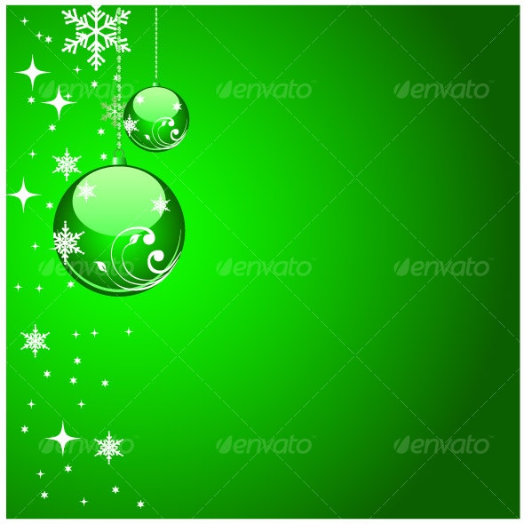 Green christmas artwork - Christmas Seasons/Holidays