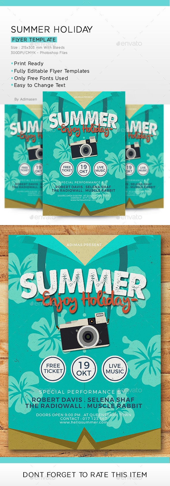 Summer Holiday - Events Flyers