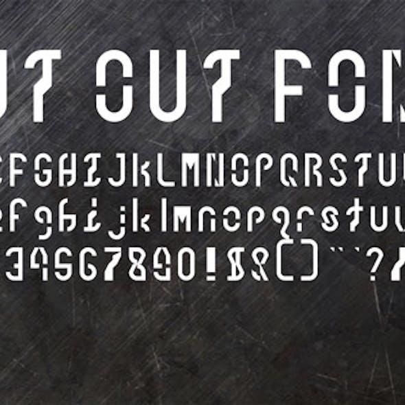 Cut Out Font