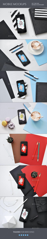 Smartphone PSD Mockup - Mobile Displays