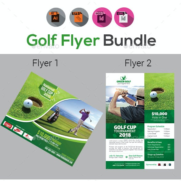 Golf Flyer Template Graphics, Designs & Templates