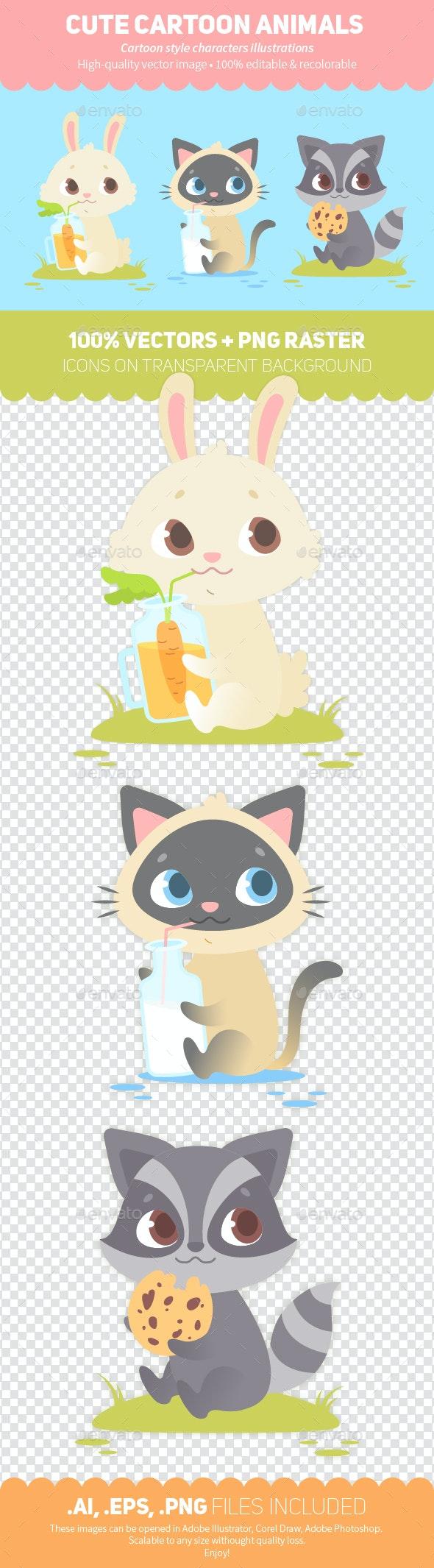 Cartoon Animals - Animals Characters
