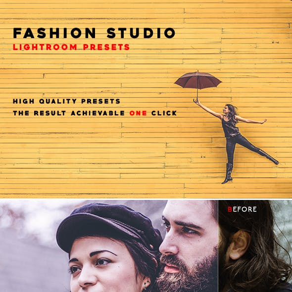 50 Fashion Studio Lightroom Presets