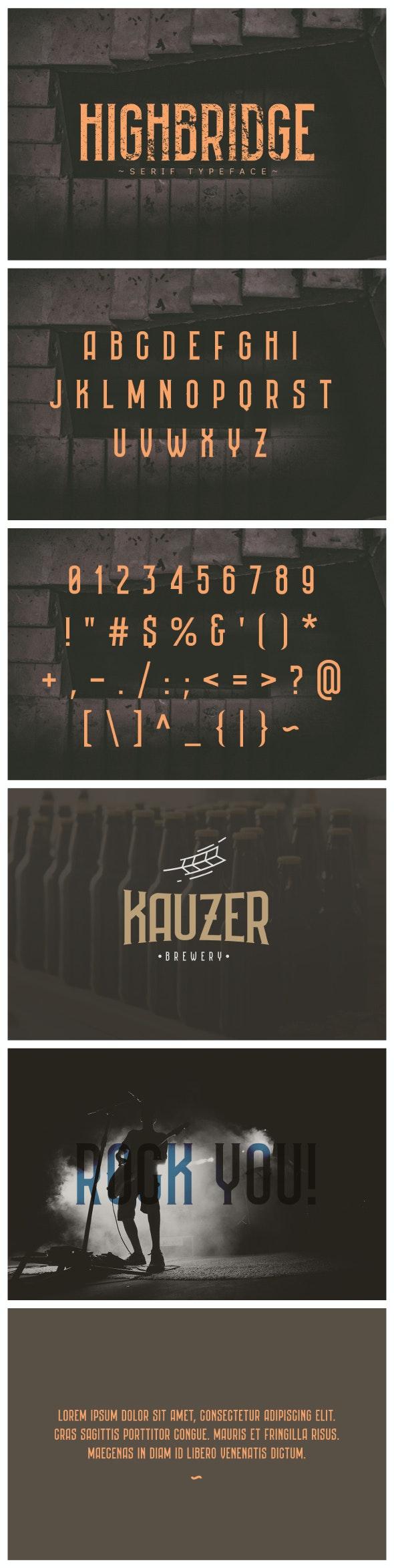 Highbridge Typeface - Serif Fonts