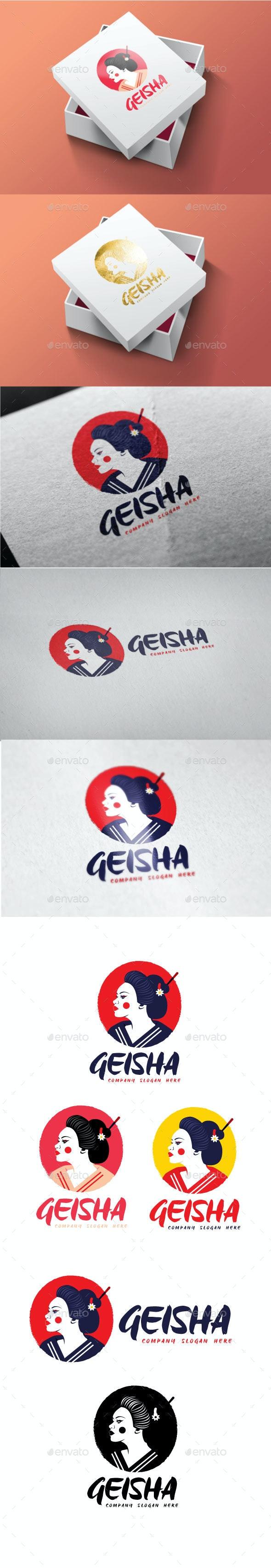 Geisha Logo - Objects Logo Templates