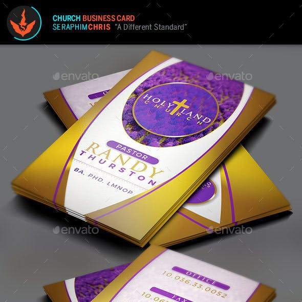 Royal Church Business Card Template 2