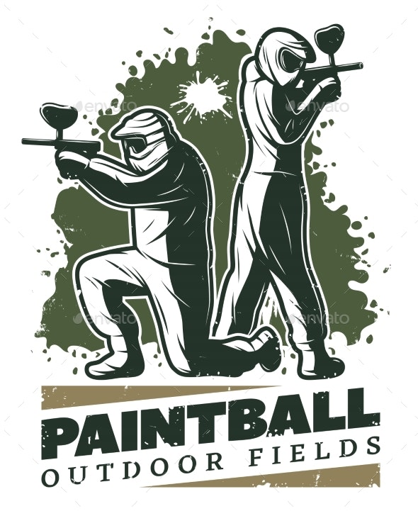 Vintage Paintball Club Template - Miscellaneous Vectors