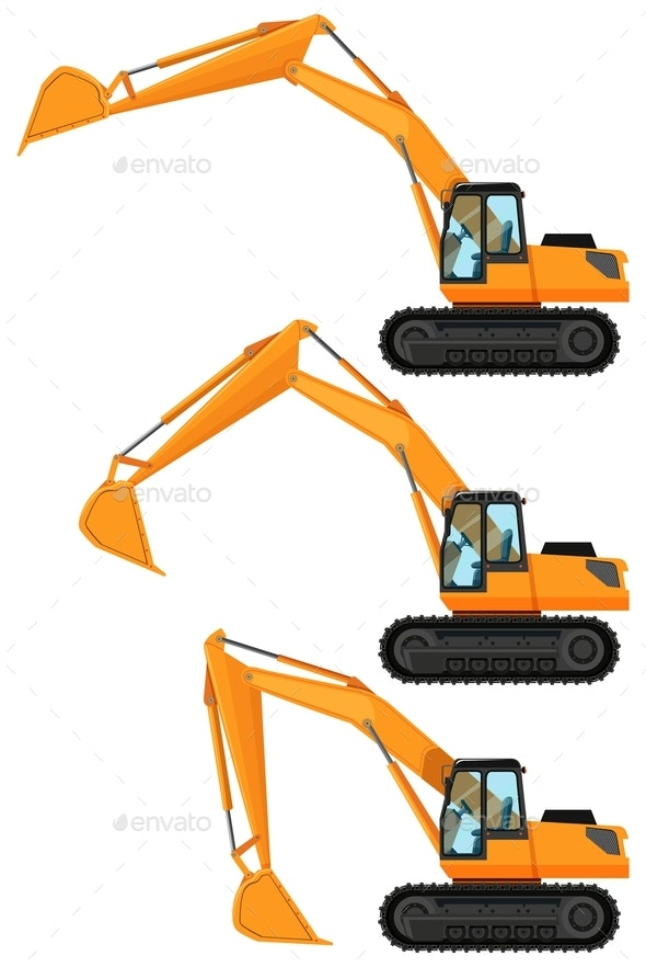 Bulldozers in Three Positions - Miscellaneous Conceptual