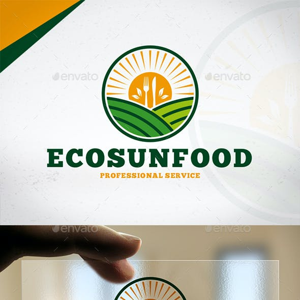 Eco Sun Food Logo