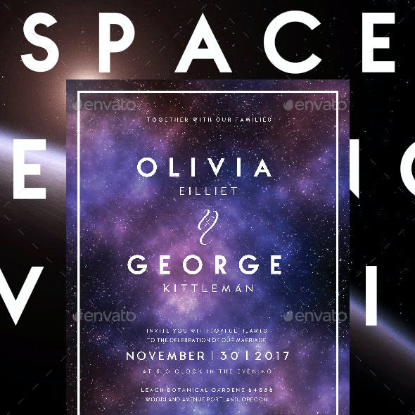 Space Wedding Invitations