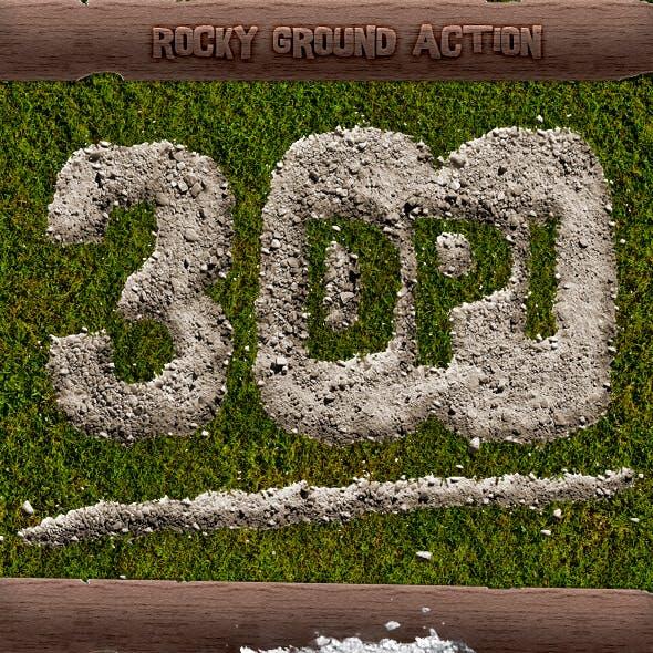 Rocky Ground Action - 300 DPI