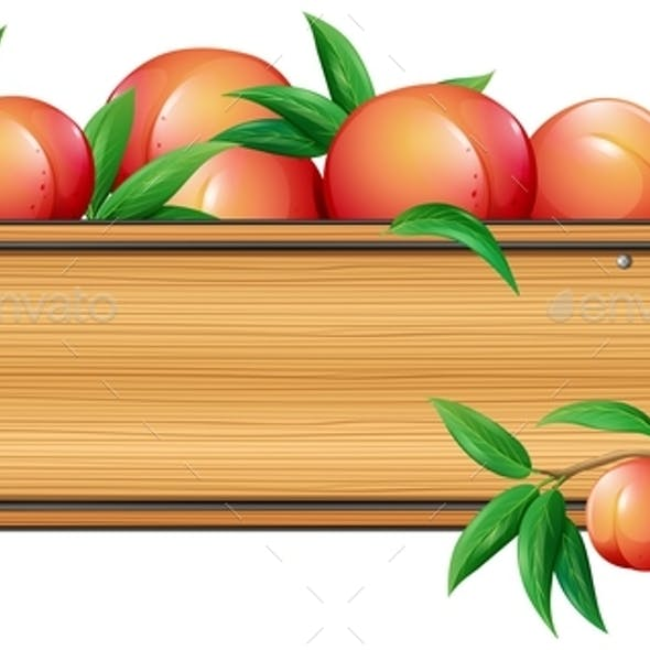 Wooden Sign Template with Peaches