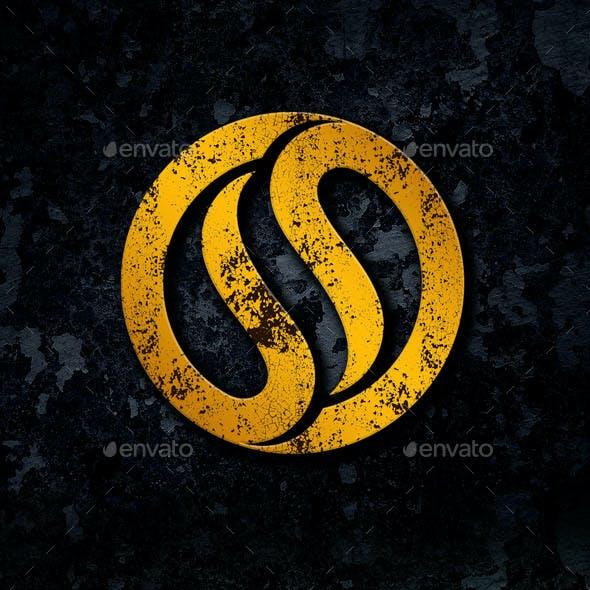 Dark Grunge Logo Mockup