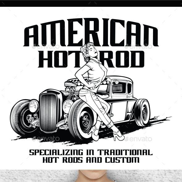 Hot Rod T-Shirt Design