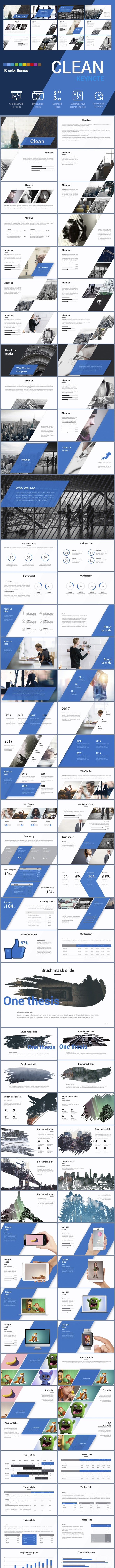 Clean Keynote template - Creative Keynote Templates
