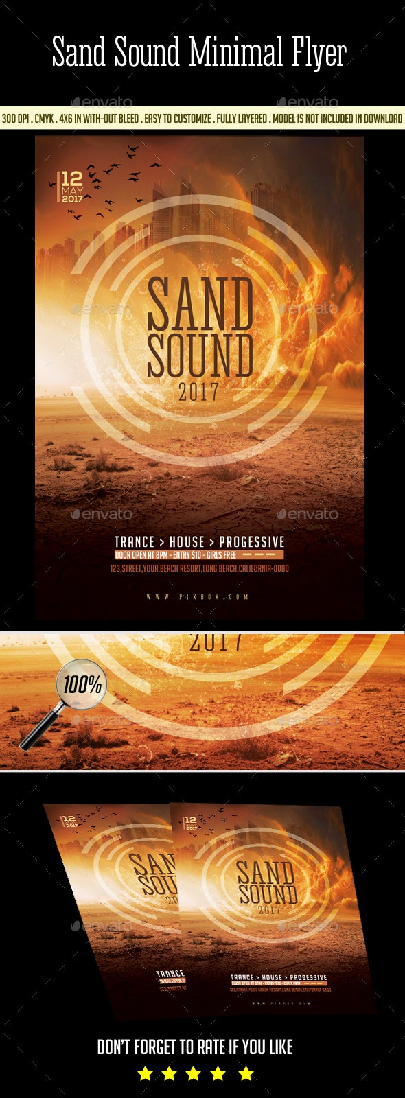Sand Sound Flyer - Clubs & Parties Events