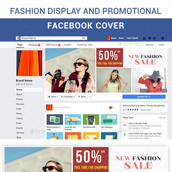 Fashion Display and Promotional Facebook Cover