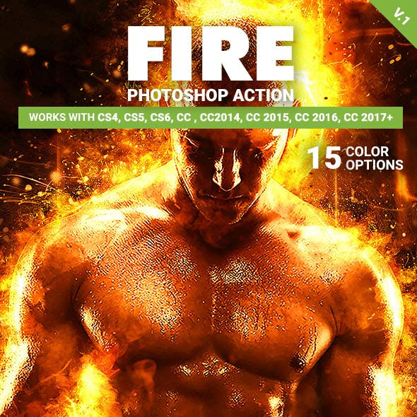 Fire Photoshop Action V.1