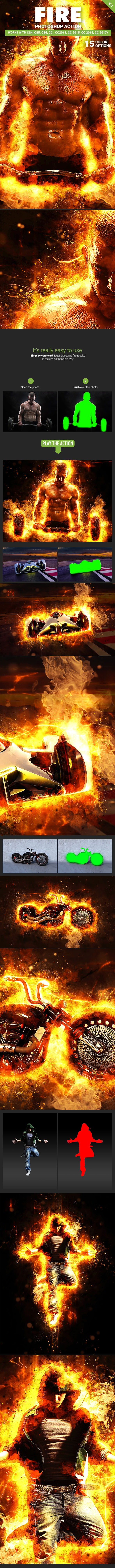 Fire Photoshop Action V 1 by SmartestMind | GraphicRiver