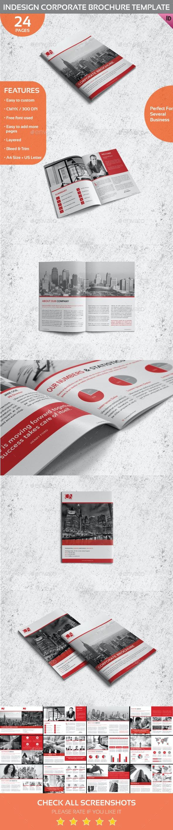 Indesign Corporate Brochure Template - Corporate Brochures