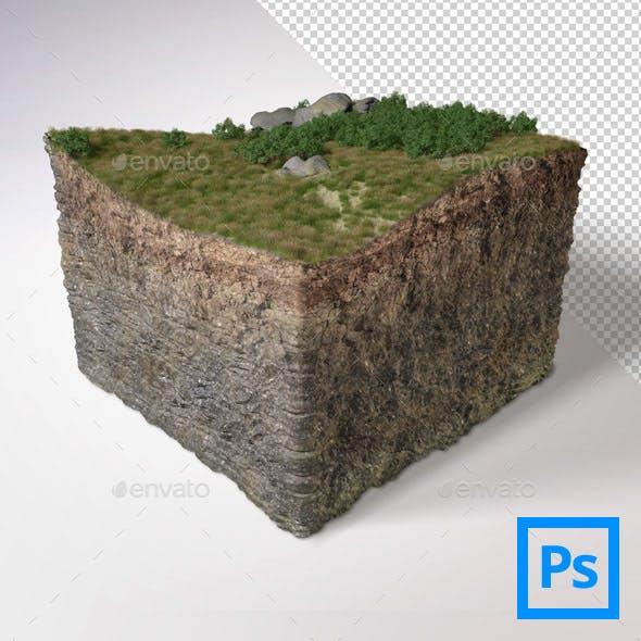 3D Land Cube