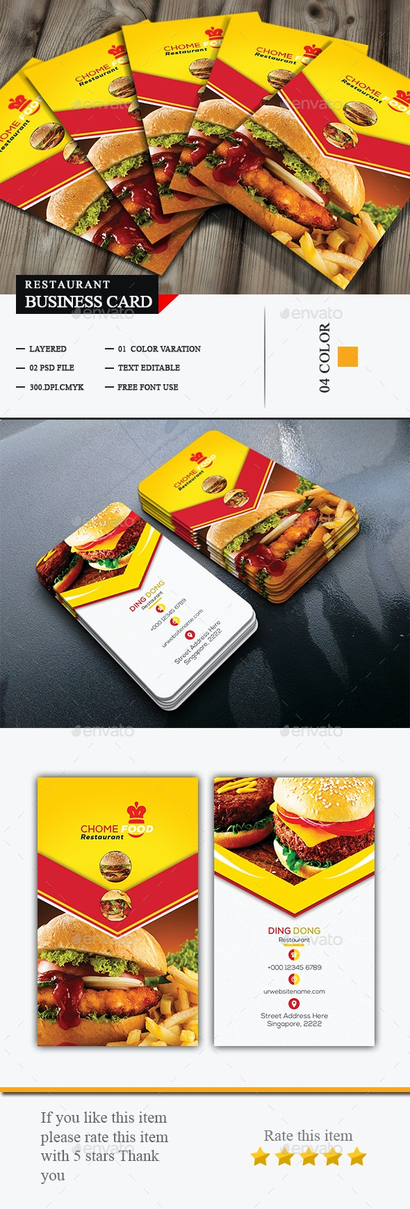 Special Restaurant Business Card - Business Cards Print Templates
