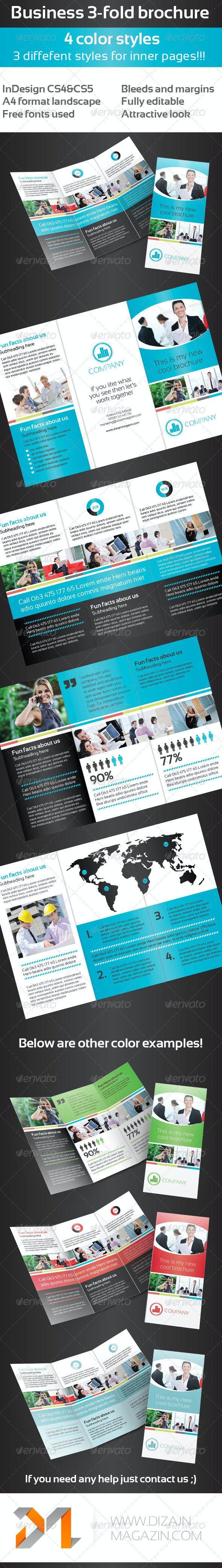 Business 3-Fold Brochure - Multi Color II - Corporate Brochures