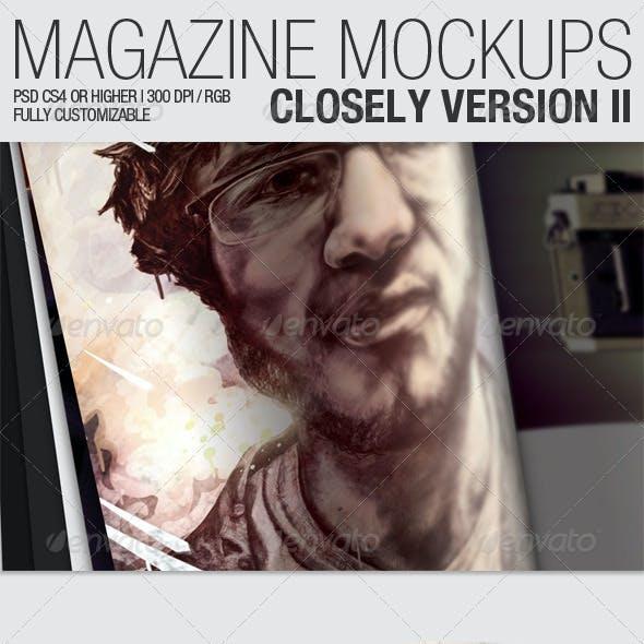 Magazine Mockups – Closely Version II