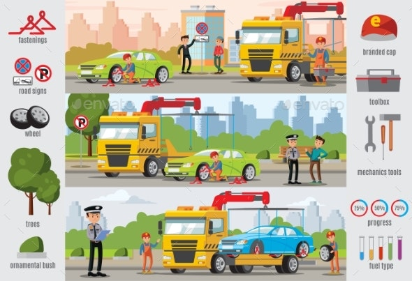 Transport Evacuation Infographic Template - Backgrounds Decorative