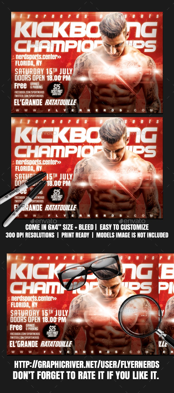 World Championships Kickboxing Sports Flyer - Sports Events