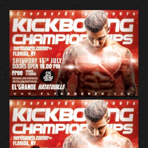 World Championships Kickboxing Sports Flyer