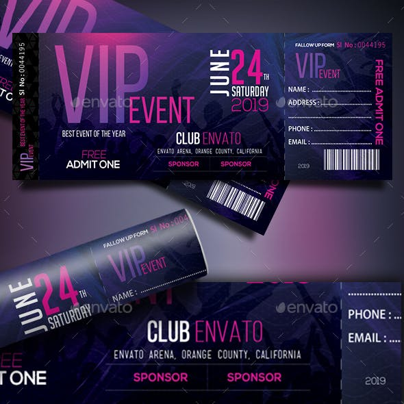 VIP Event Tickets Template