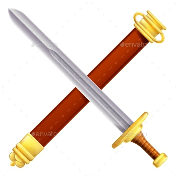 Crossed Sword and Scabbard