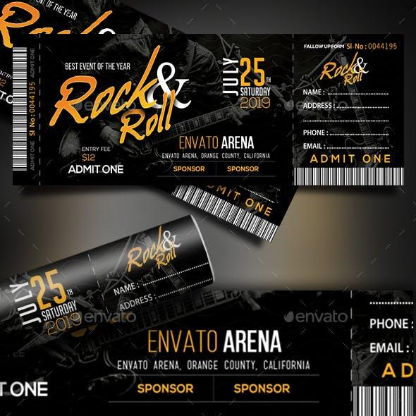 Rock & Roll Ticket Template