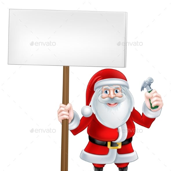Santa Hammer Sign