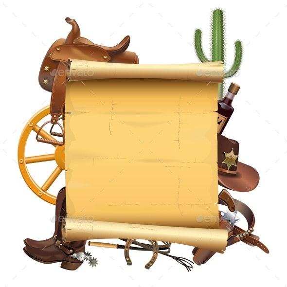 Western Scroll - Travel Conceptual