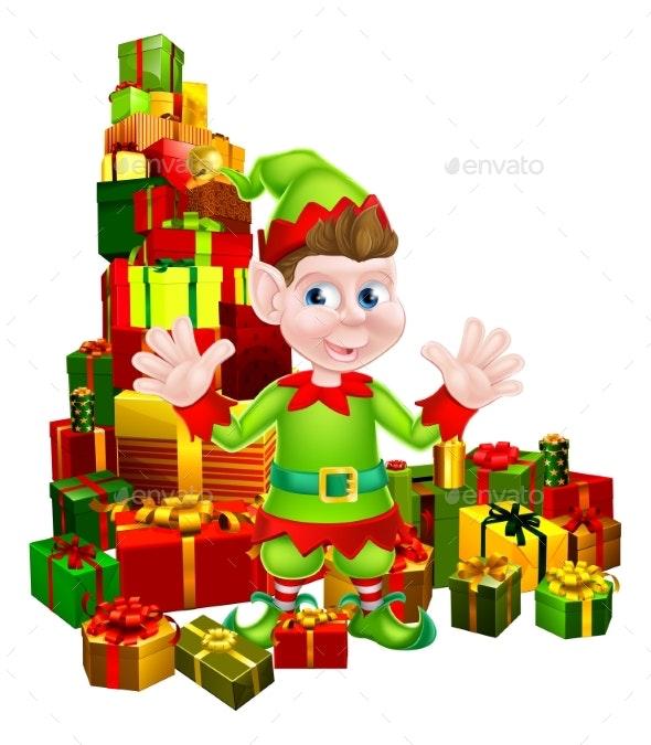 Christmas Gifts Elf - Seasons/Holidays Conceptual