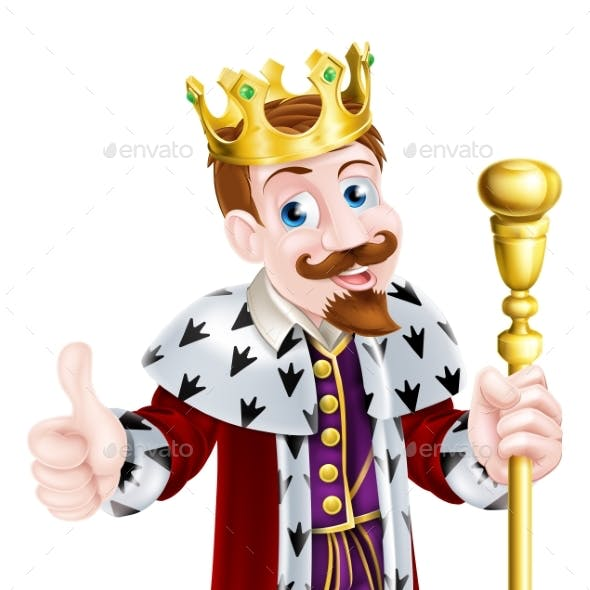Friendly King Cartoon