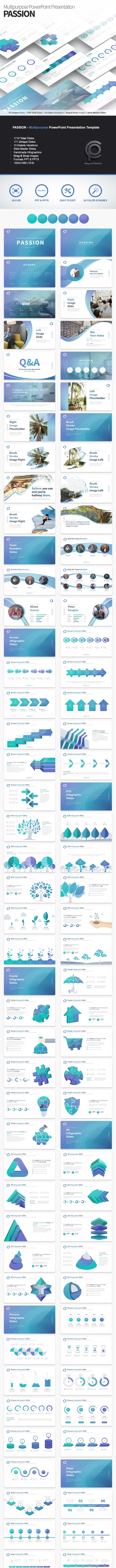 PASSION - Multipurpose PowerPoint Presentation Template - Business PowerPoint Templates