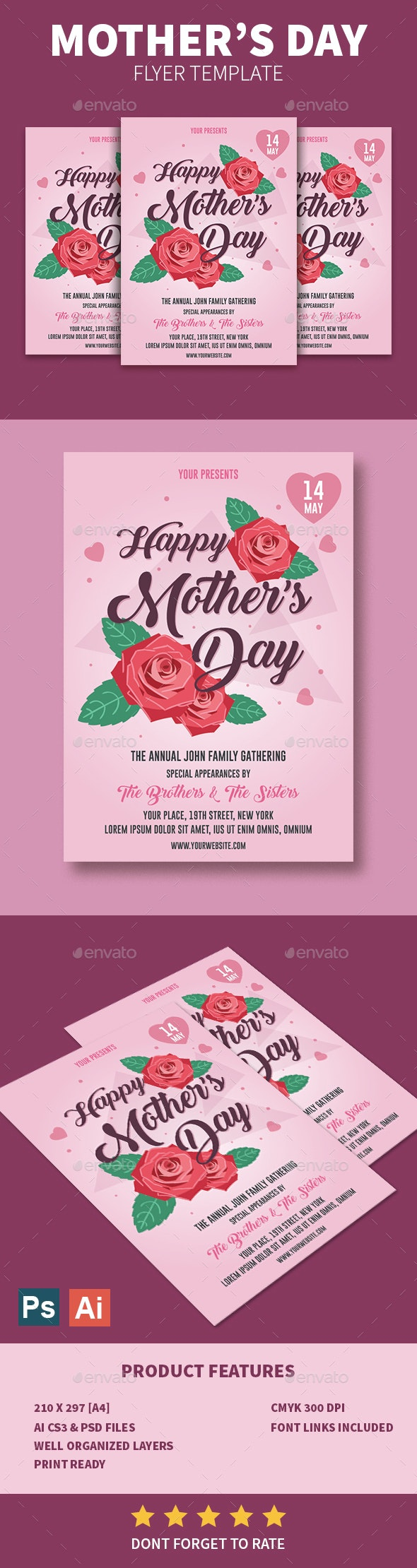 Mother's Day Flyer - Events Flyers