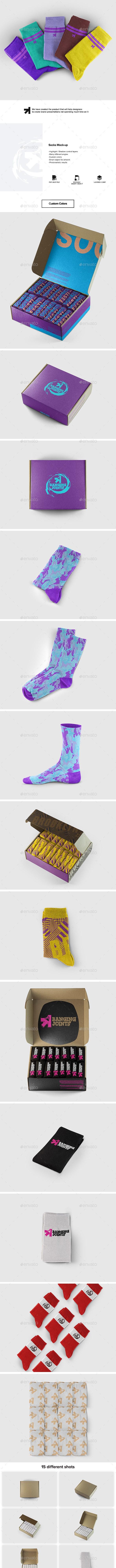 Socks Set Mockup - Miscellaneous Apparel