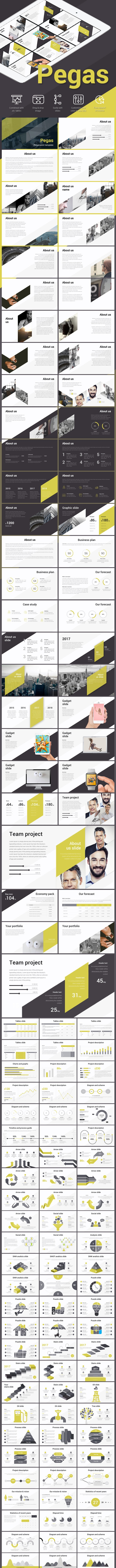 Pegas Clean - Business PowerPoint Templates