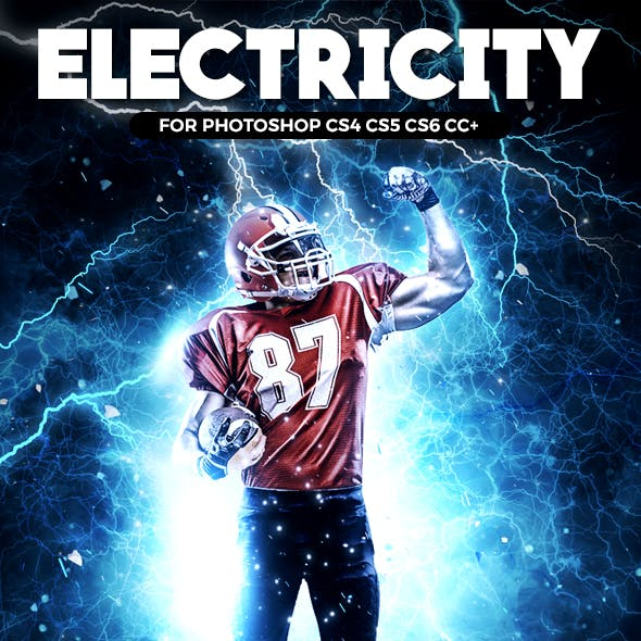 Electricity Photoshop Action