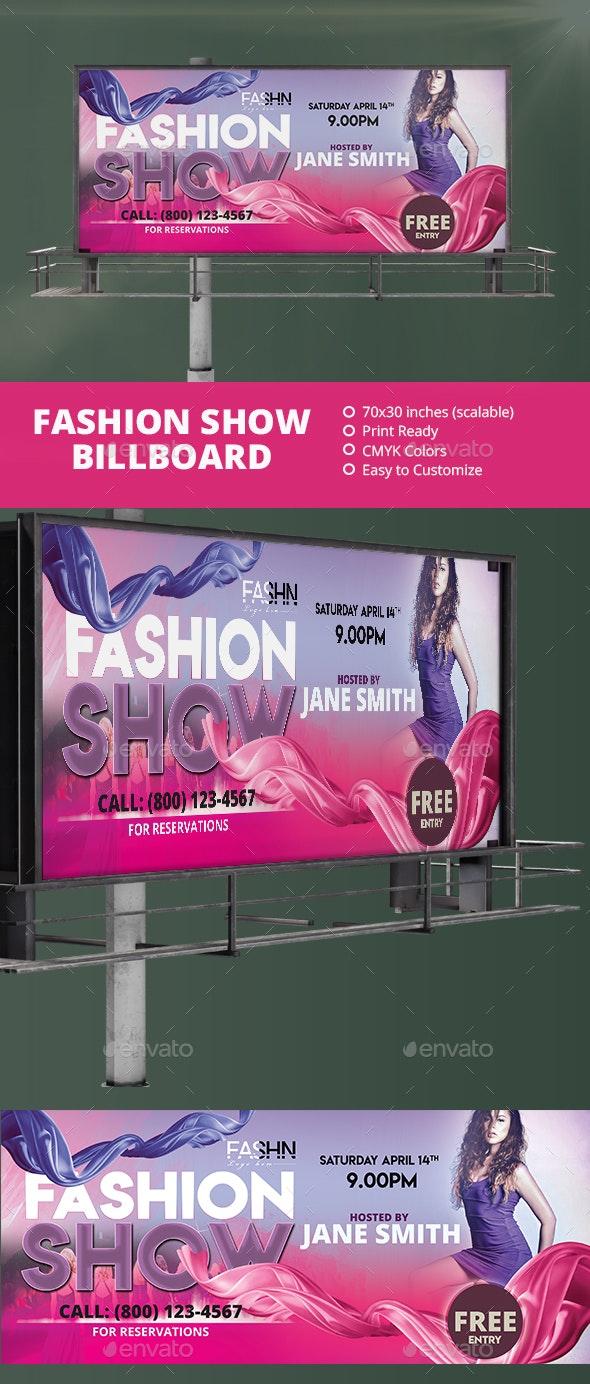 Fashion Show Billboard - Signage Print Templates