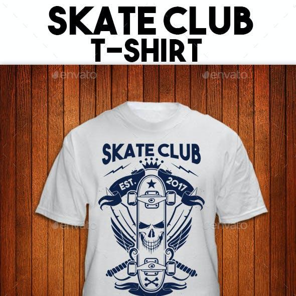 Skate Club T-Shirt Illustration