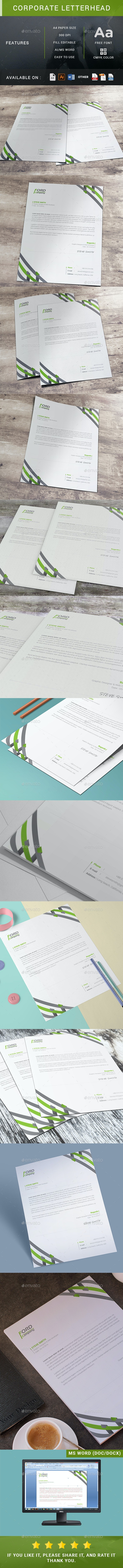 Corporate Letterhead - Resumes Stationery