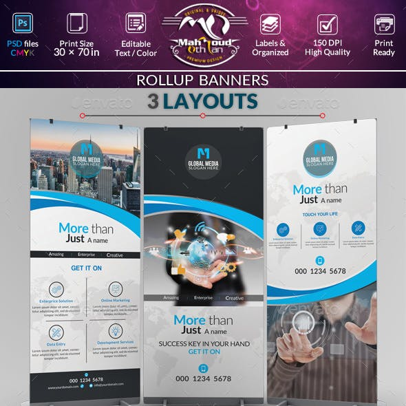 Creative Rollup Stand Banner Display
