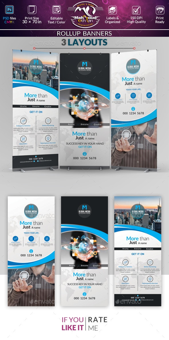 Creative Rollup Stand Banner Display - Signage Print Templates